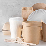 Compostable paper packaging