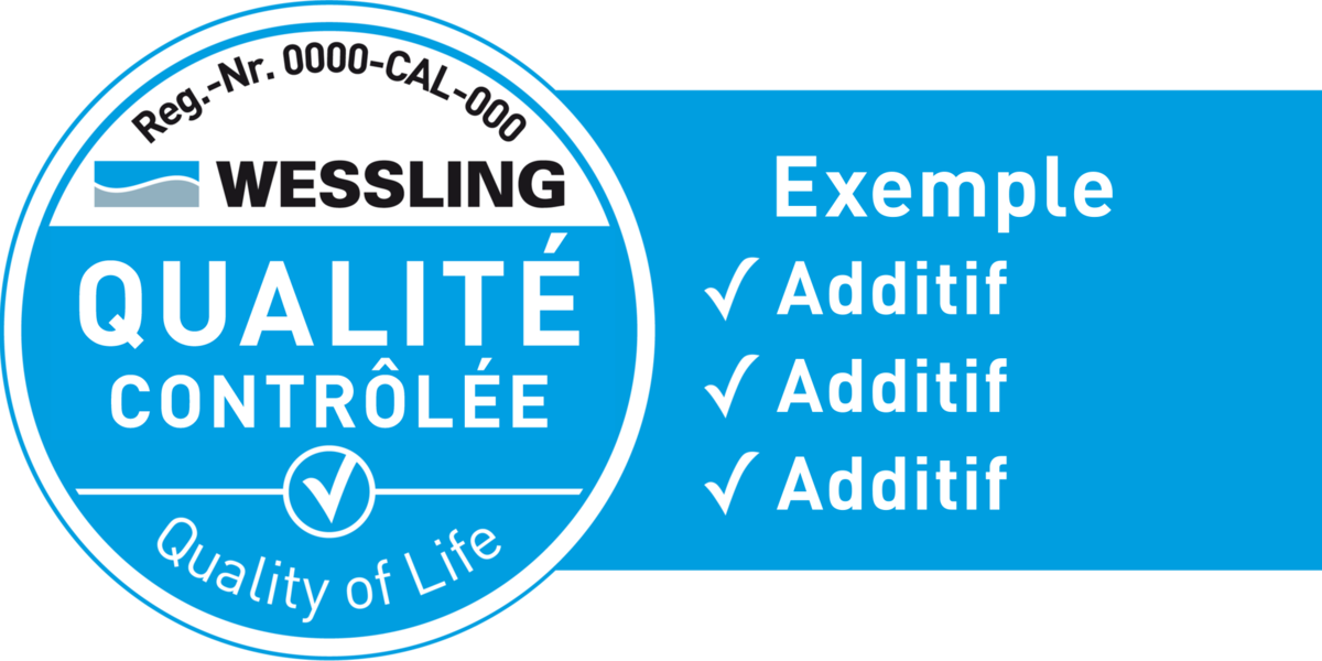 French WESSLING Quality Seal example