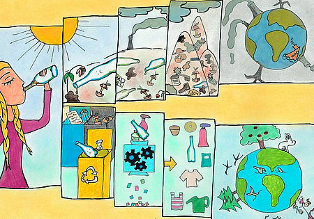 children's drawing competition about microplastics